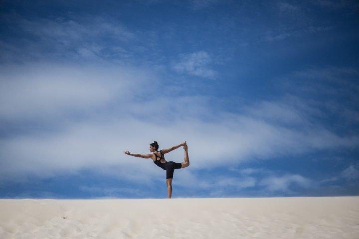 Yoga e respiração. Foto Maiara Bersch